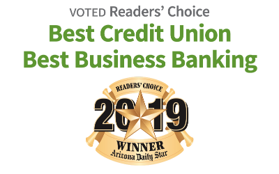 Voted Readers' Choice: Best Credit Union and Best Business Banking of 2019