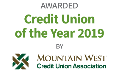 Awarded Credit Union of the Year 2019 by Mountain West Credit Union Association